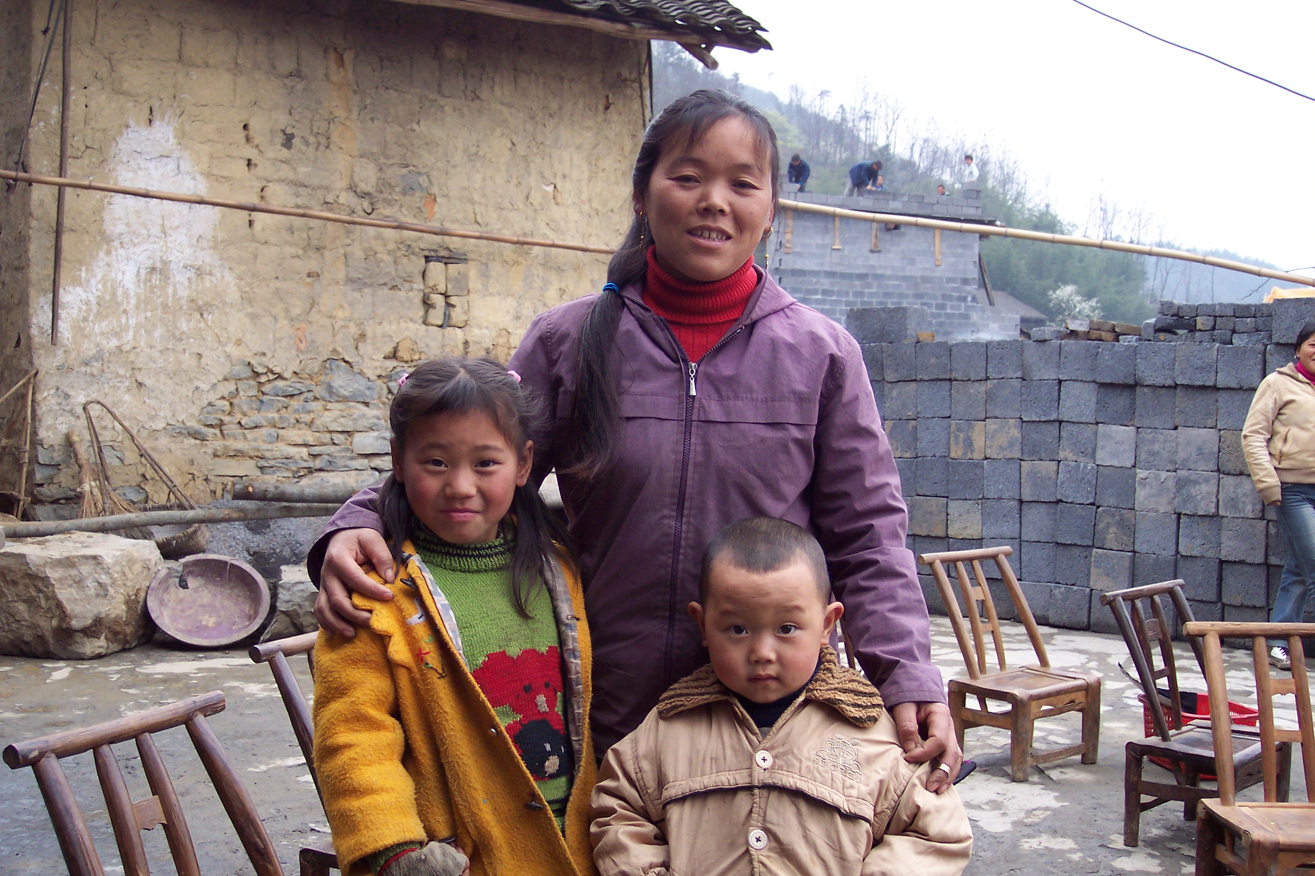 This woman is employed by WorldCrafts artisan China Ethnic Crafts and the money she earns allows her to support her two children.