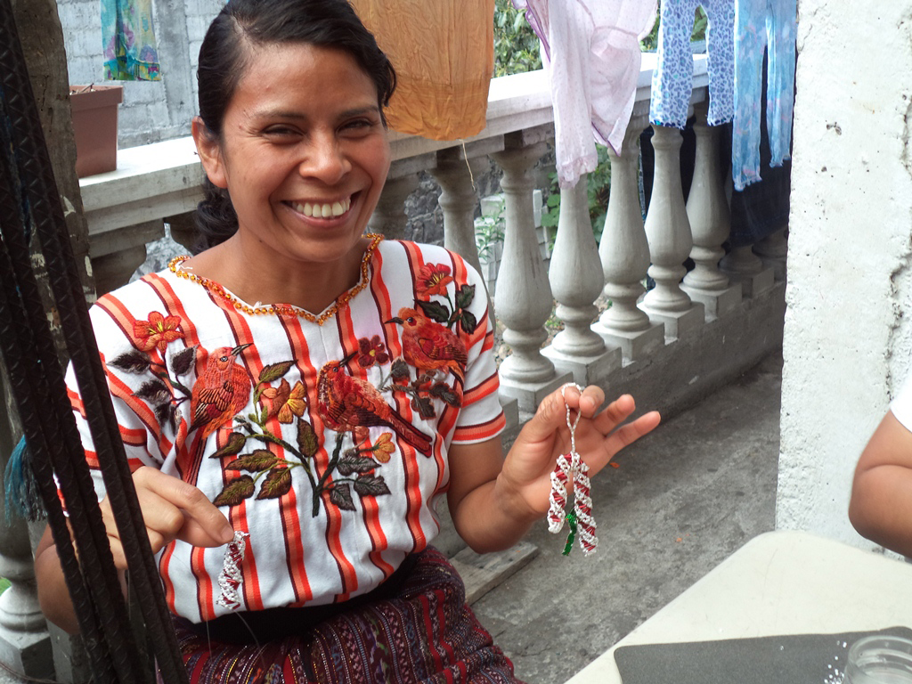 Guatemalan woman with handmade ornament