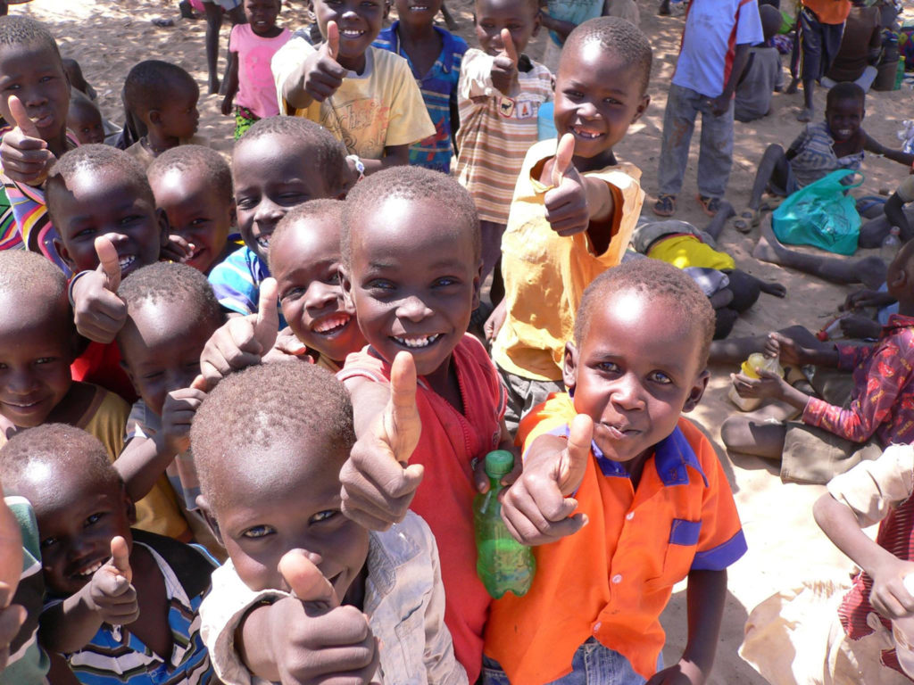 The joyful faces of children rescued by Mully Children's Family.