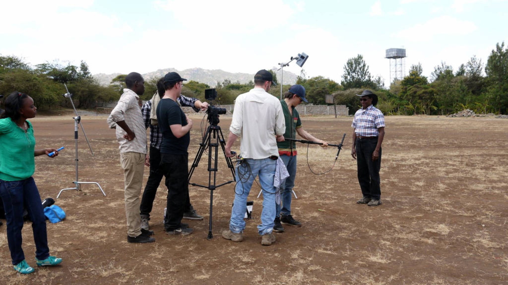 Charles Mulli filming the Mully Movie in Kenya.