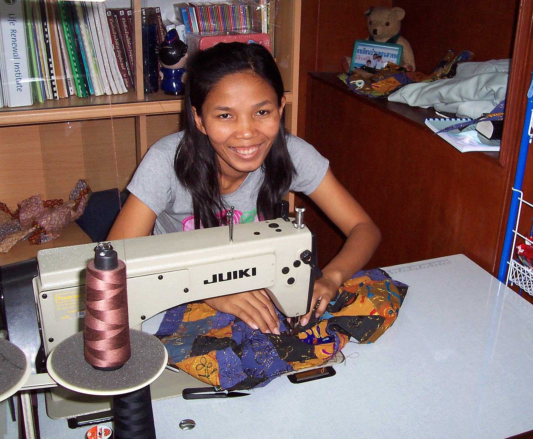 image of Thai women with sewing machine